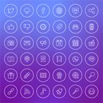 36 Free Social Media Line Icons
