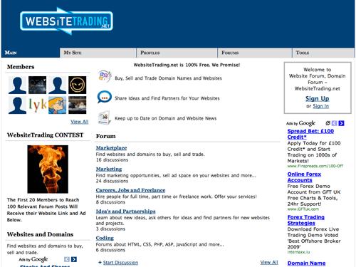 WebsiteTrading Screenshot