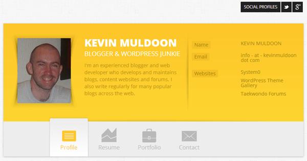 Old Kevin Muldoon Resume Design