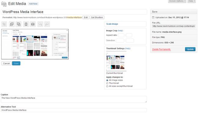 Edit Image Interface