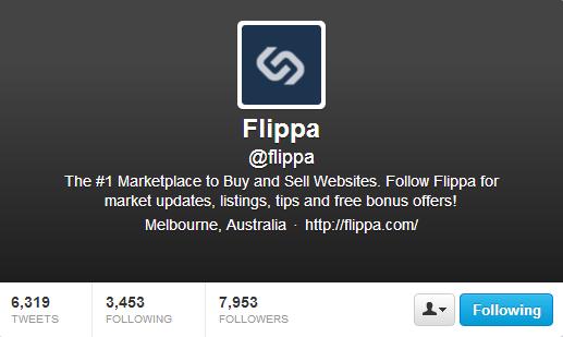 Flippa on Twitter