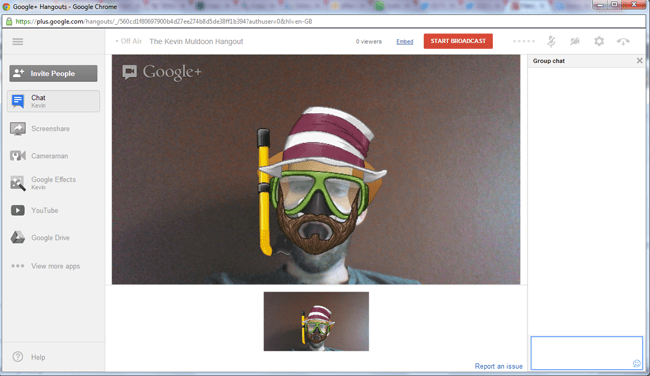 Google Hangout Example