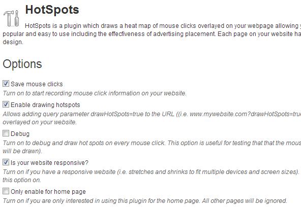 HotSpots Options