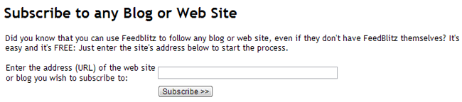 Subscribe to any Blog or Web Site