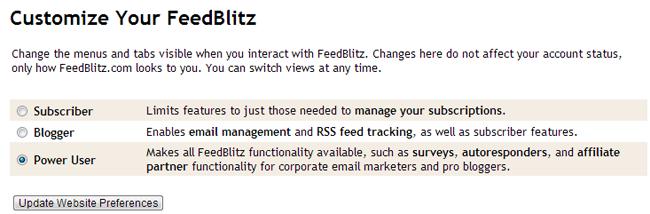 Customize Your FeedBlitz