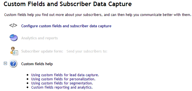 Custom Fields and Subscriber Data Capture