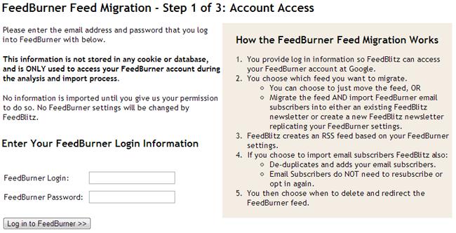 Feedburner Integration Step 1