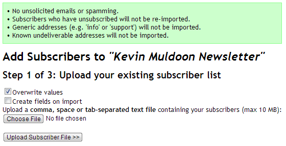 Adding Subscribers