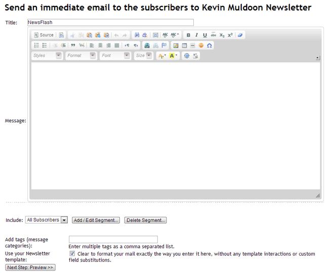 Send an Immediate Email