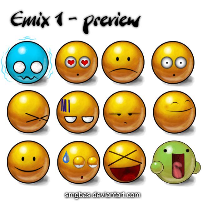 Emix 1 emoticons pack