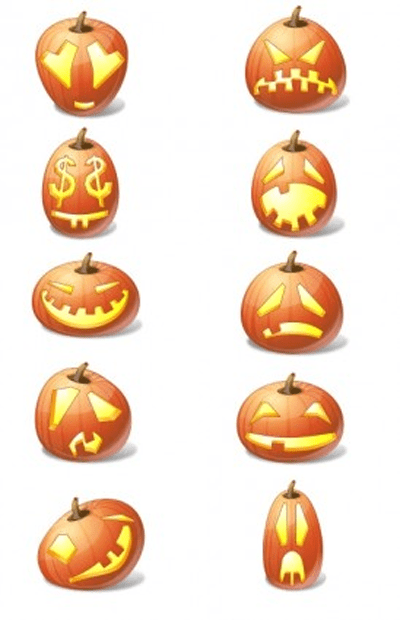 Halloween Pumpkin Emoticons icons pack