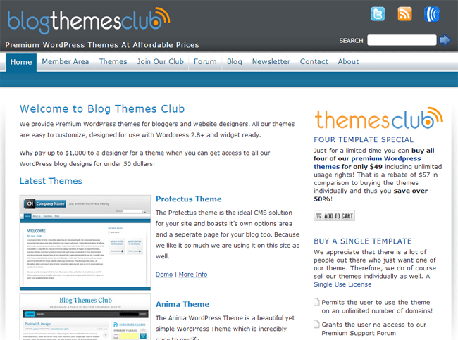 Blog Themes Club