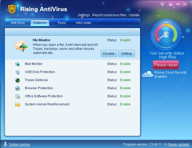 Rising Free Antivirus