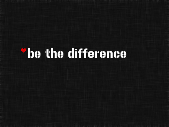 Be The Difference