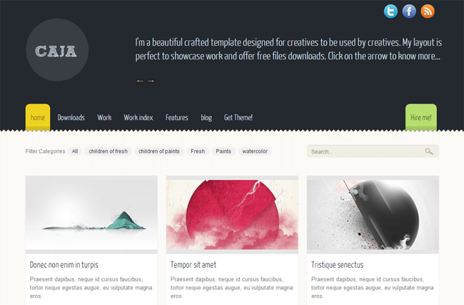 Caja WordPress Theme