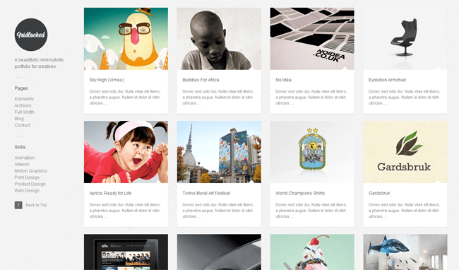 Gridlocked WordPress Theme