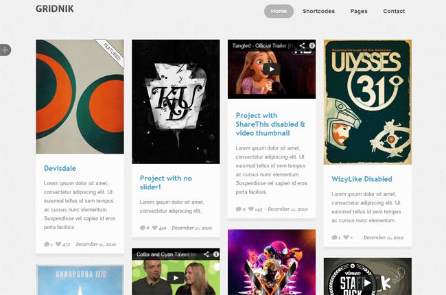 Gridnik WordPress Theme