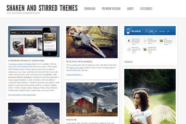 Shaken and Stirred WordPress Theme