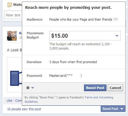Facebook Promotion Duration