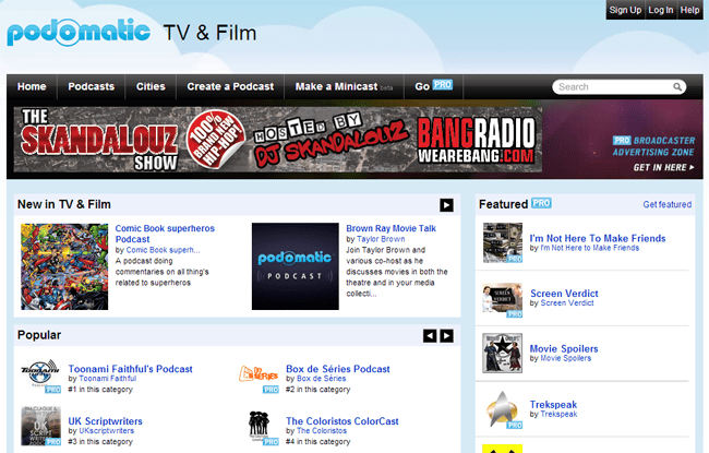 PodOmatic Podcast Directory
