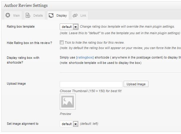 Display Review Settings
