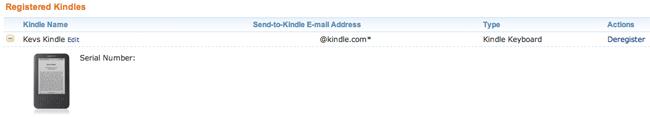 Registered Kindle