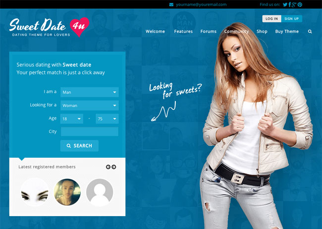 ph 7 social dating cms demo