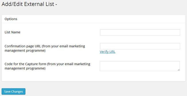Add External Email List