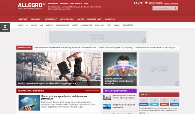 Allegro WordPress Theme