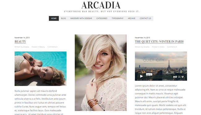 Arcadia WordPress Theme