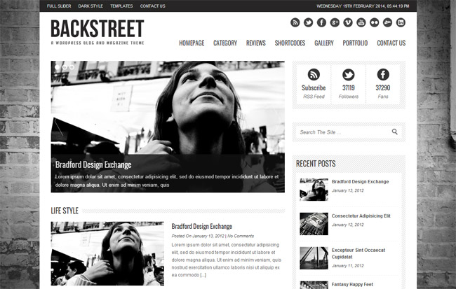 Backstreet WordPress Theme