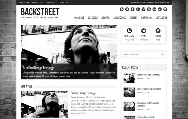 Backstreet WordPress Theme