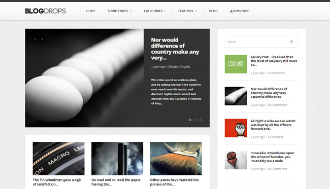 Blogdrops WordPress Theme