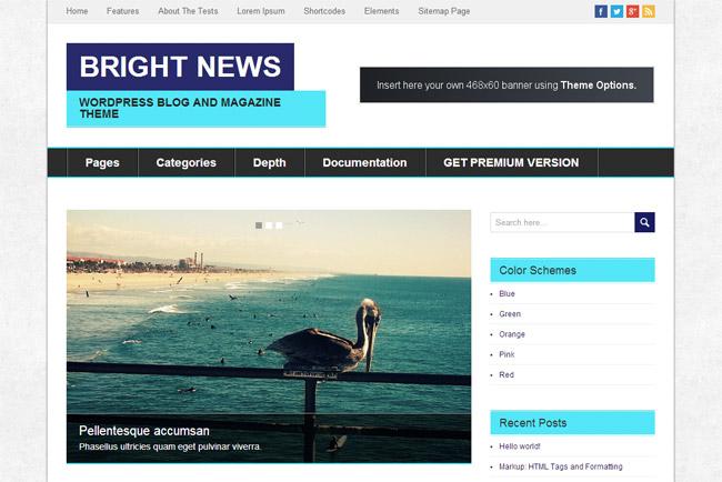 Bright News WordPress Theme