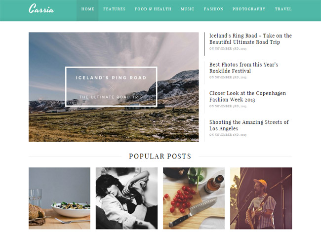 Cassia WordPress Theme