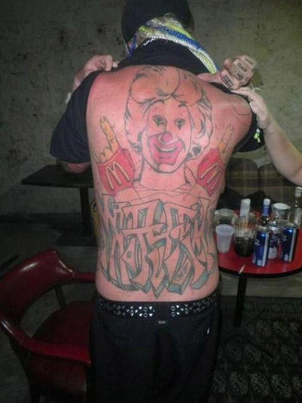 Donald McRonald Tattoo