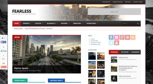 Fearless WordPress Theme