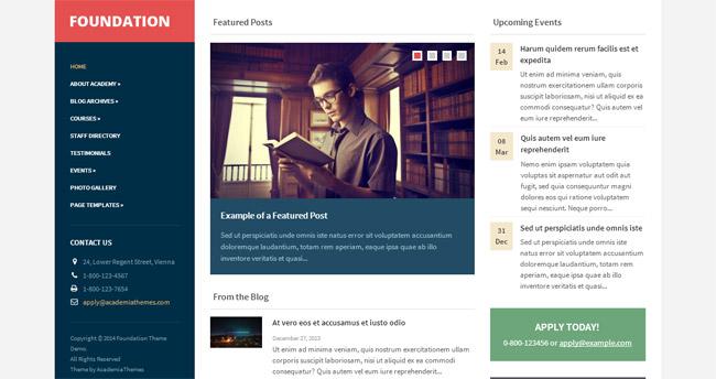 Foundation WordPress Theme