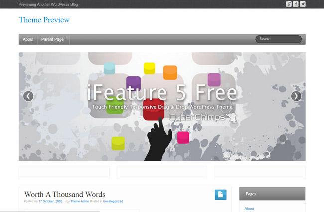 iFeature WordPress Theme