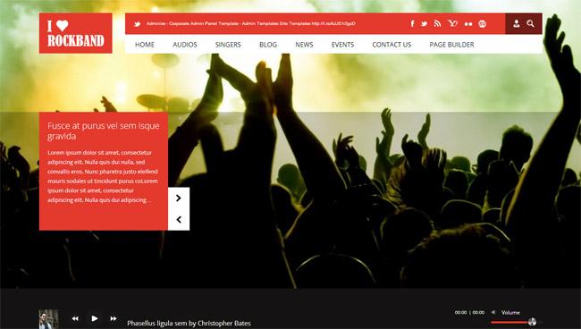 I Love Rockband WordPress Theme