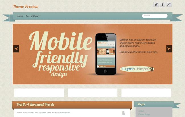 iRibbon WordPress Theme
