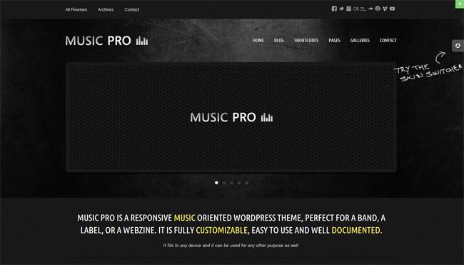 Music Pro WordPress Theme