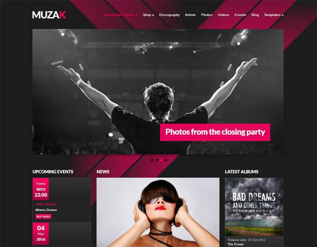 Muzak WordPress Theme