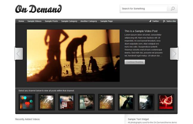 On Demand WordPress Theme