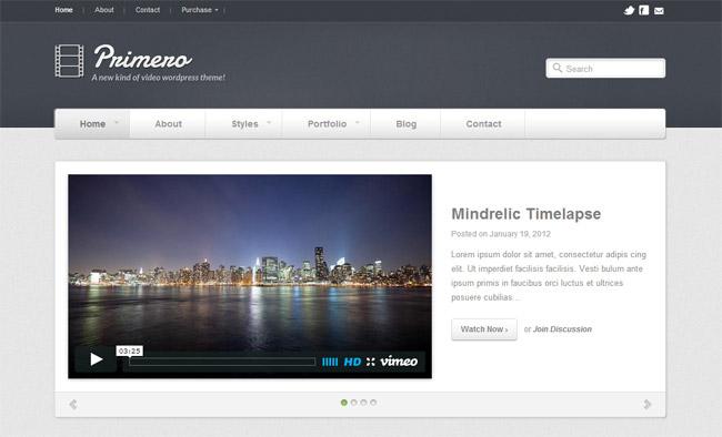 Primero WordPress Theme