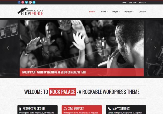 Rock Palace WordPress Theme