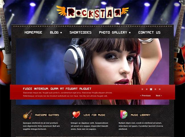 Rockstar WordPress Theme