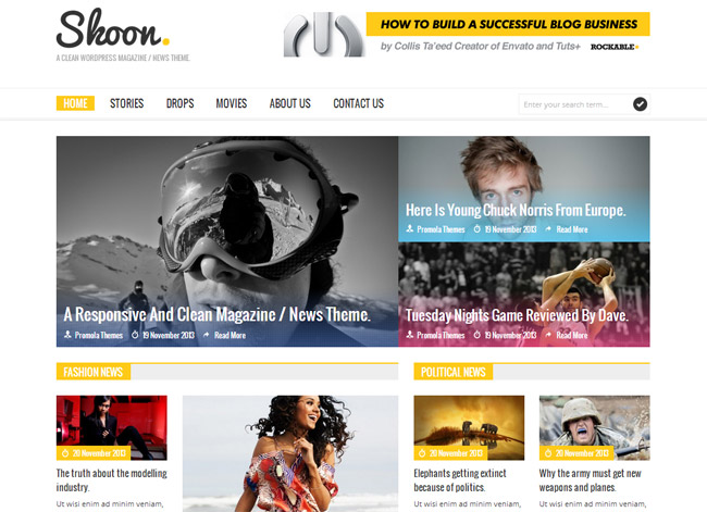 Skoon WordPress Theme