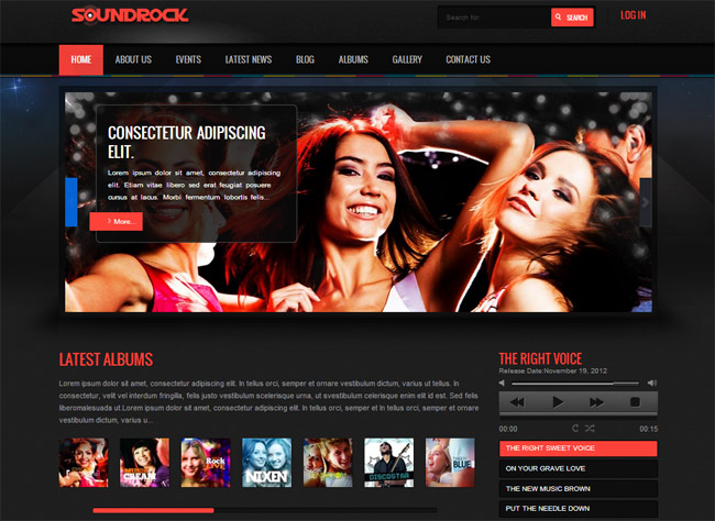 Sound Rock WordPress Theme
