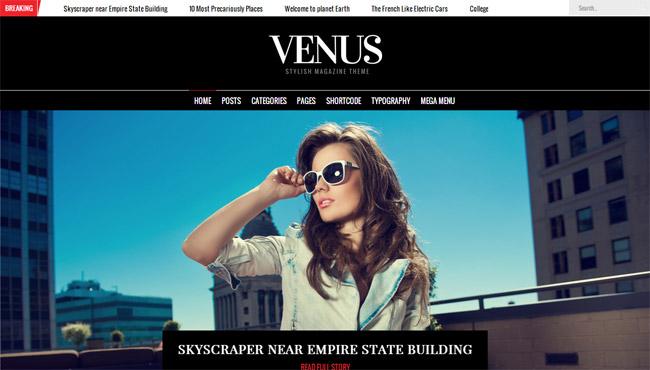 Venus WordPress Theme